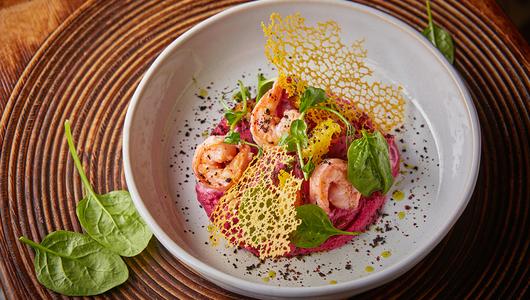 Feed vinnii bazar teplii salat krevetki svekla apelsin vasabi